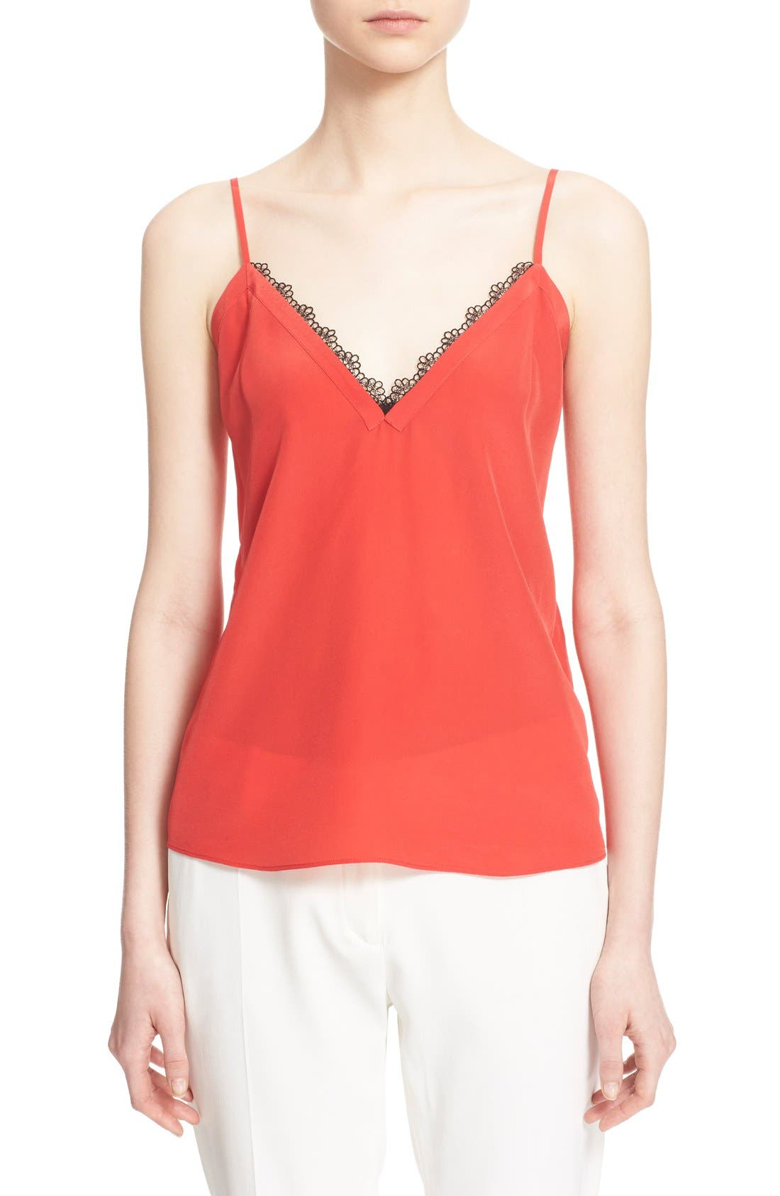 Alternate Image 1 Selected - The Kooples Lace Trim Crêpe de Chine Camisole
