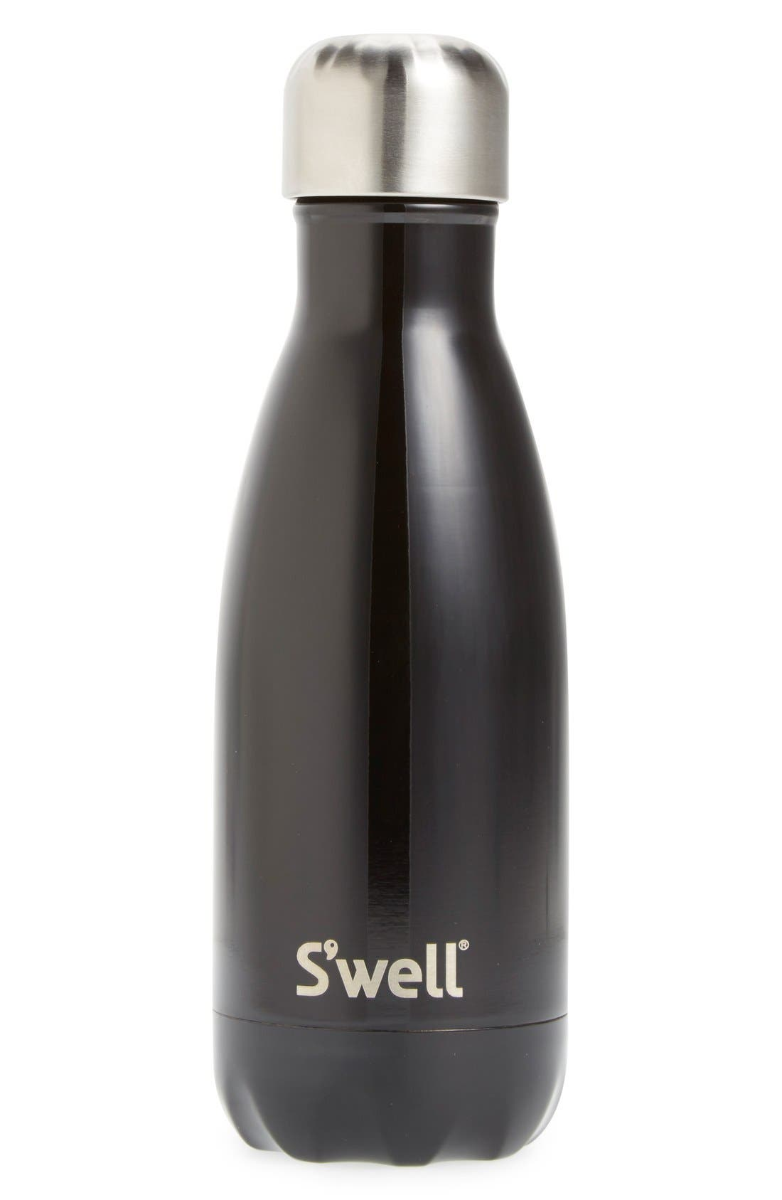 Alternate Image 2  - S'well 'Shimmer Collection - Midnight Black' Stainless Steel Water Bottle