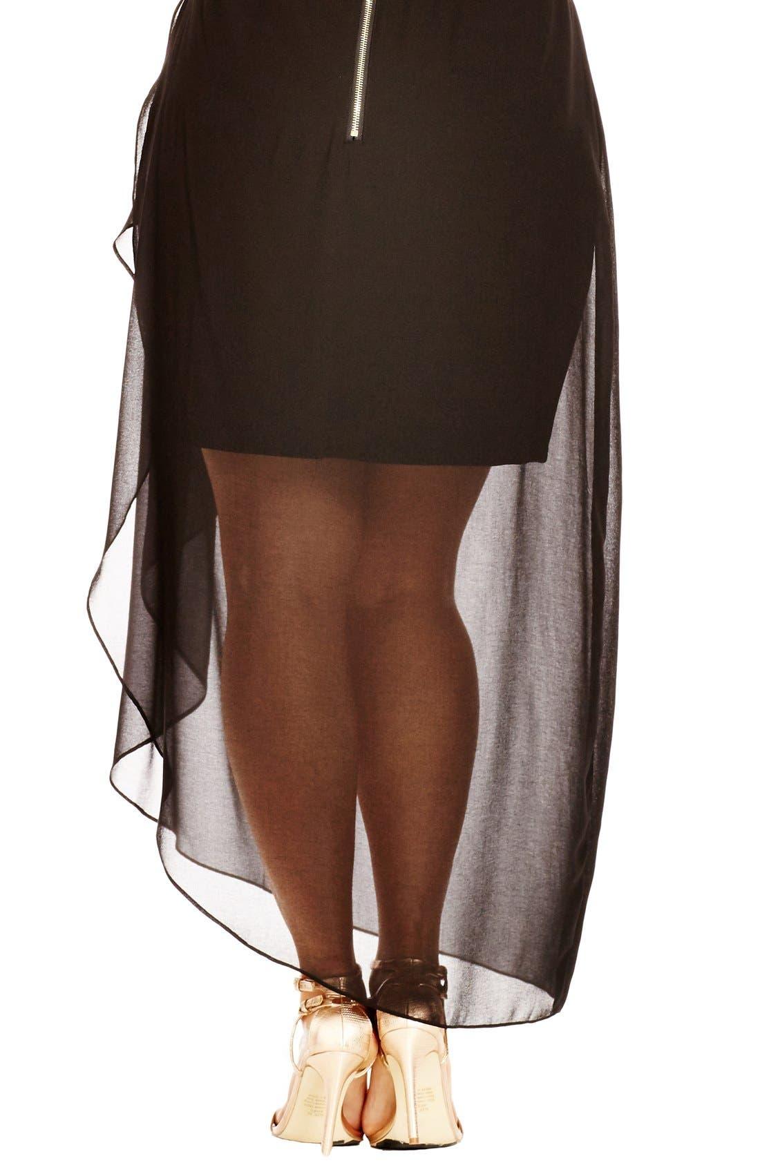 Alternate Image 2  - City Chic Layered Frill Skirt (Plus Size)