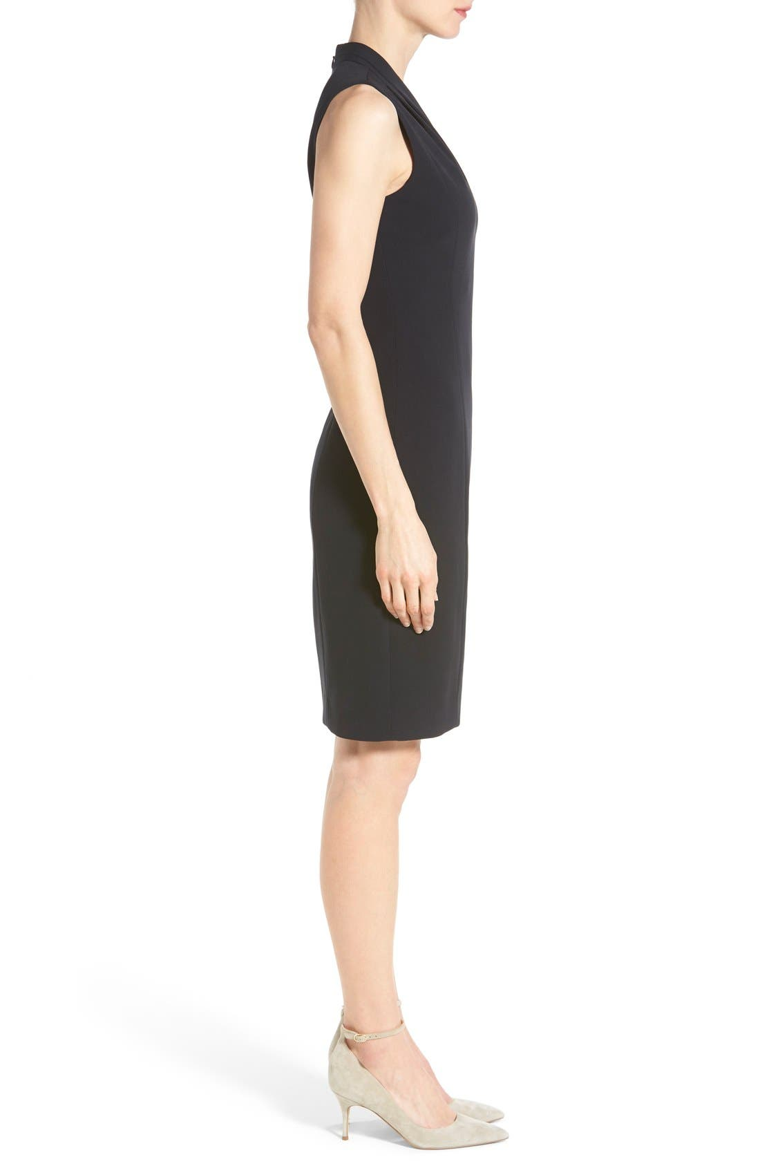 Alternate Image 3  - T Tahari 'Tonya' V-Neck Sheath Dress