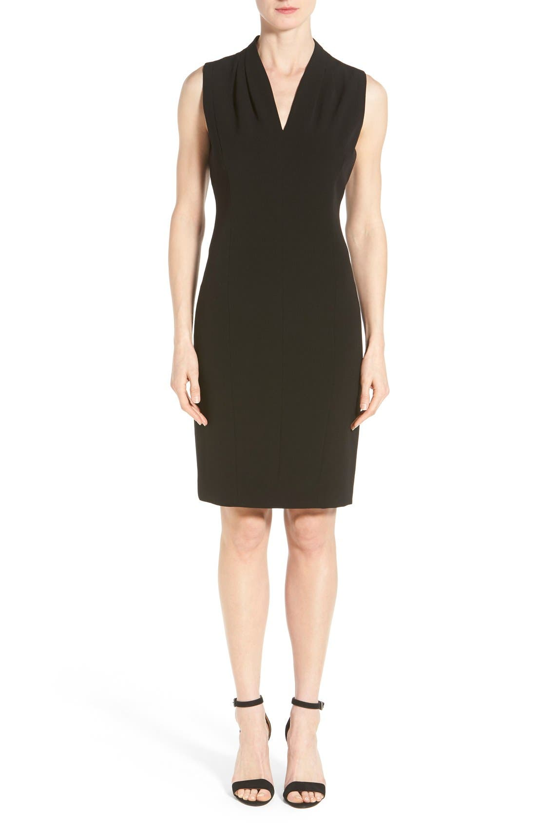 T Tahari 'Tonya' V-Neck Sheath Dress