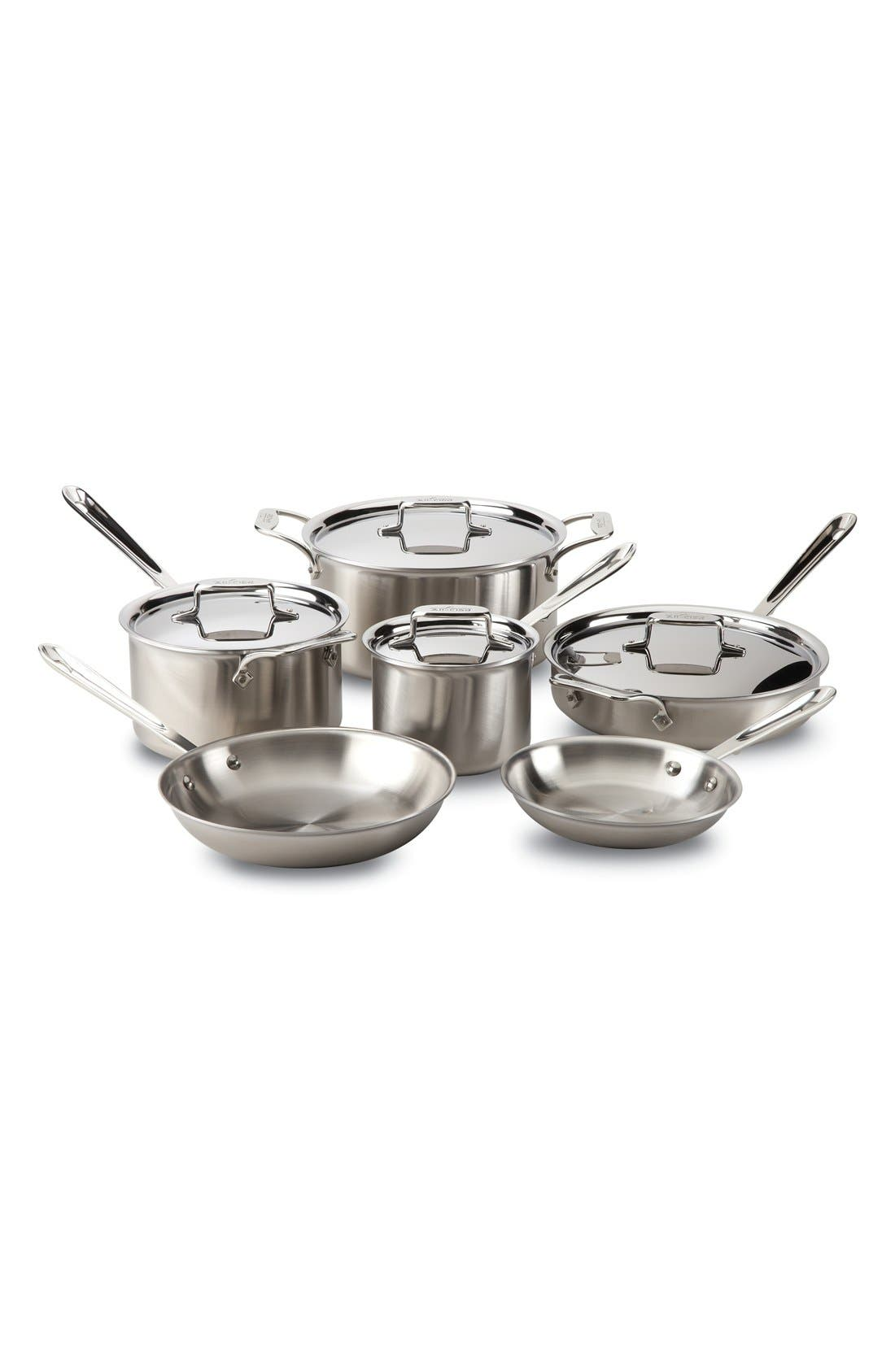 All-Clad 'd5®' Brushed Stainless Steel Cookware Set (10-Piece)