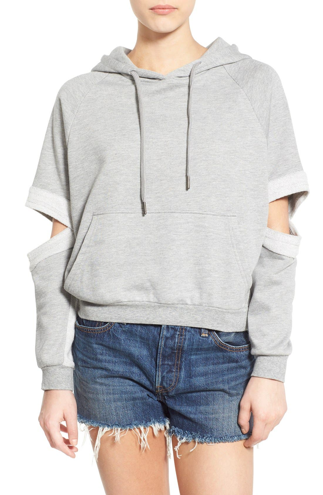 Alternate Image 1 Selected - PUBLISH BRAND 'Lucia' Cutout Sleeve Hoodie