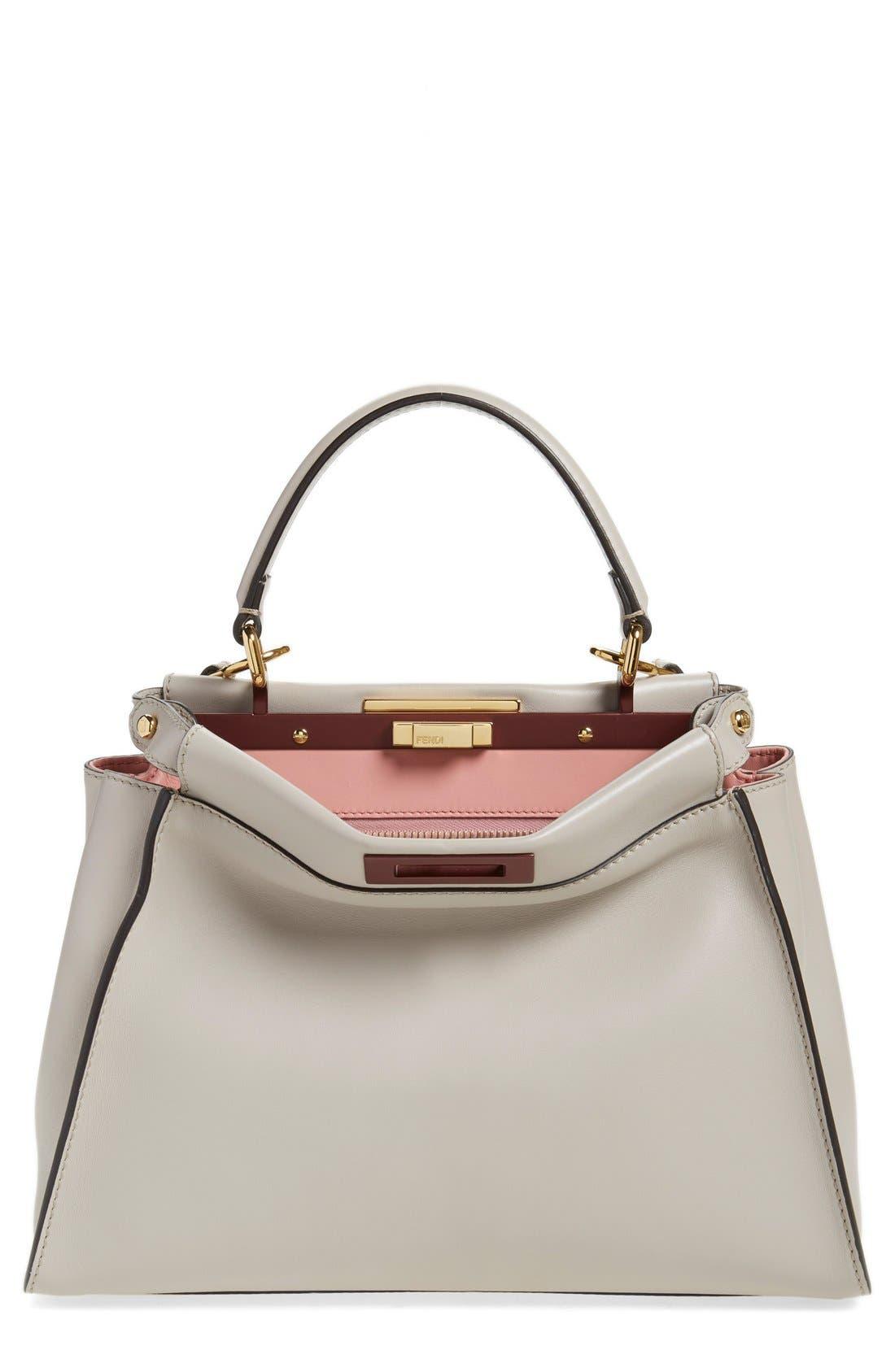 'Peek-A-Boo' Medium Crossbody Bag,                         Main,                         color, Grey Powder/Rose