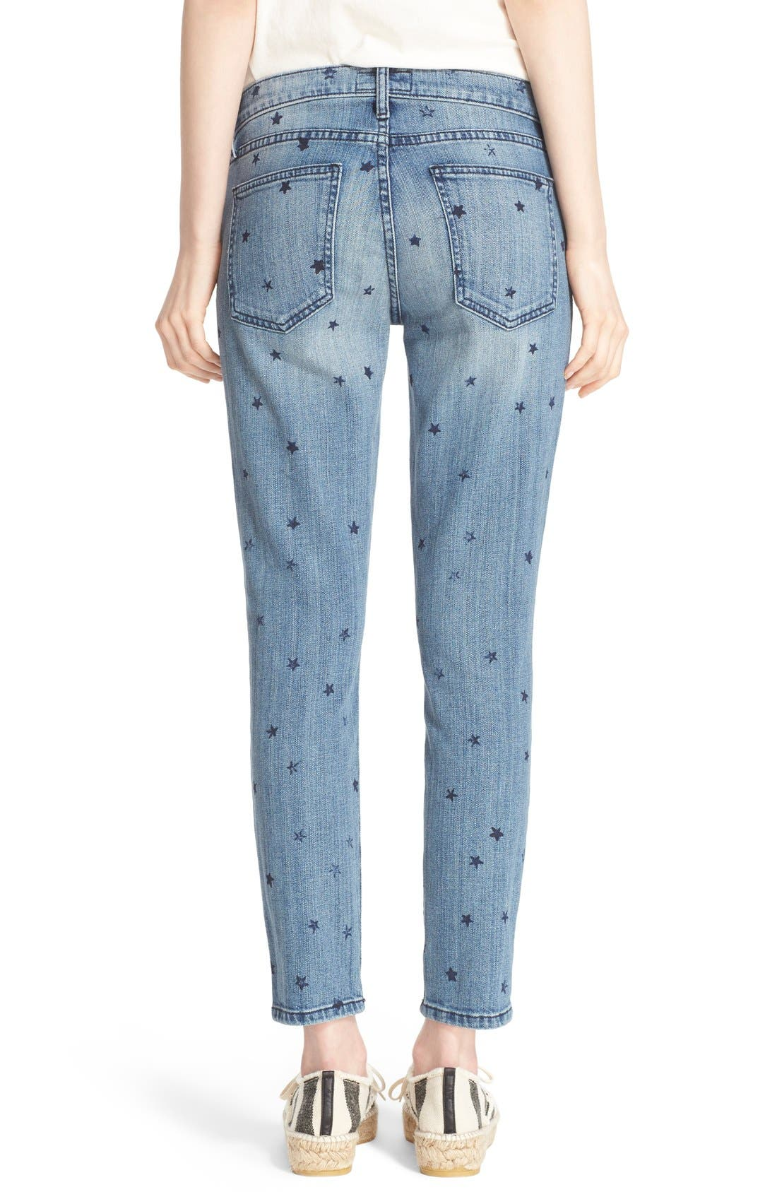Alternate Image 2  - Current/Elliott 'The Stiletto' Star Print Skinny Jeans (Revival with Mini Navy Stars)