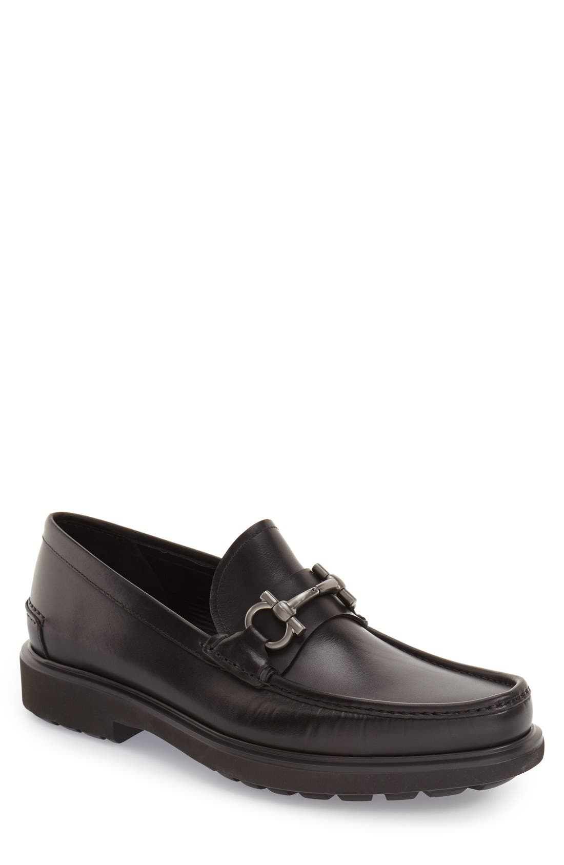 Loafer,                         Main,                         color, Nero Leather