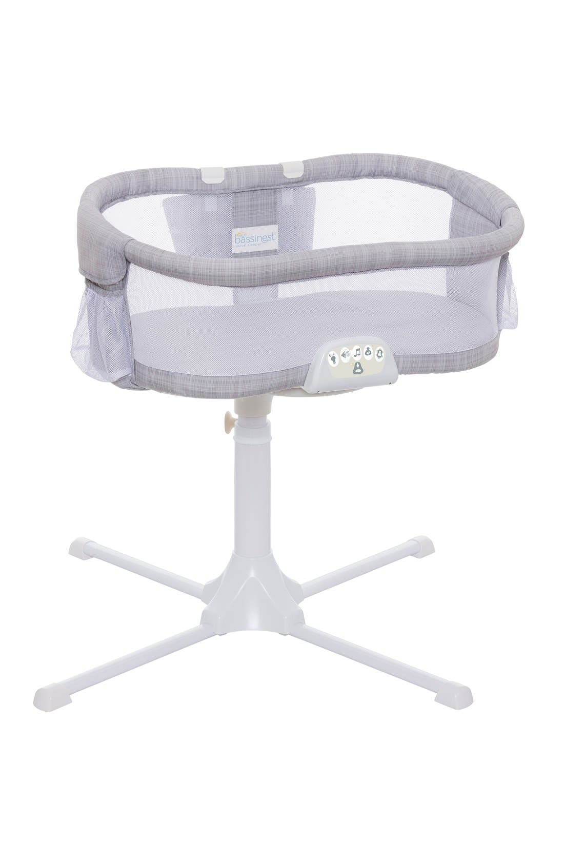 Halo Innovations<sup>®</sup> Bassinest LUXE Plus Bedside Swivel Sleeper,                         Main,                         color, Gray Melange