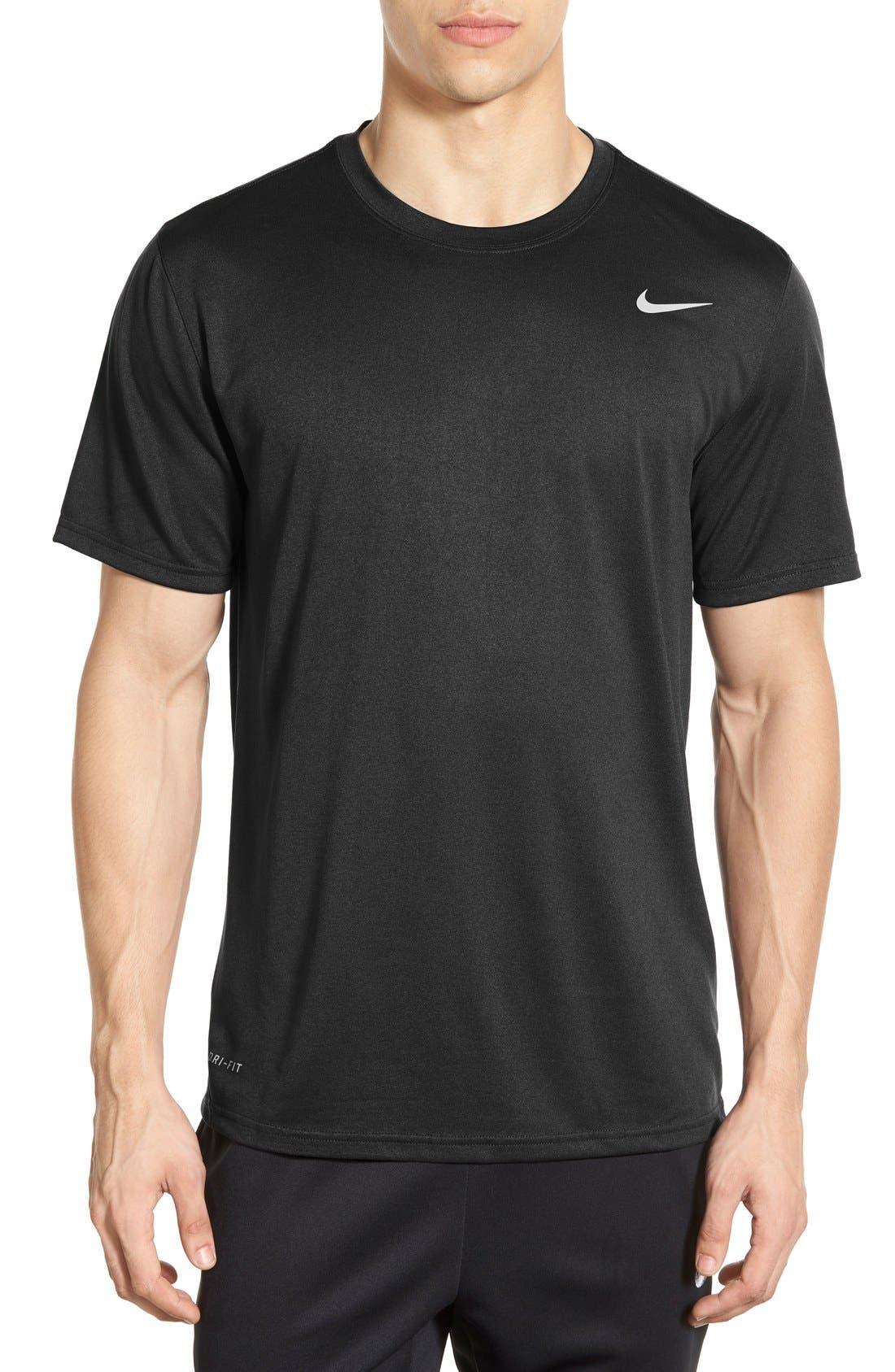 'Legend 2.0' Dri-FIT Training T-Shirt,                         Main,                         color, Black/ Black/ Matte Silver
