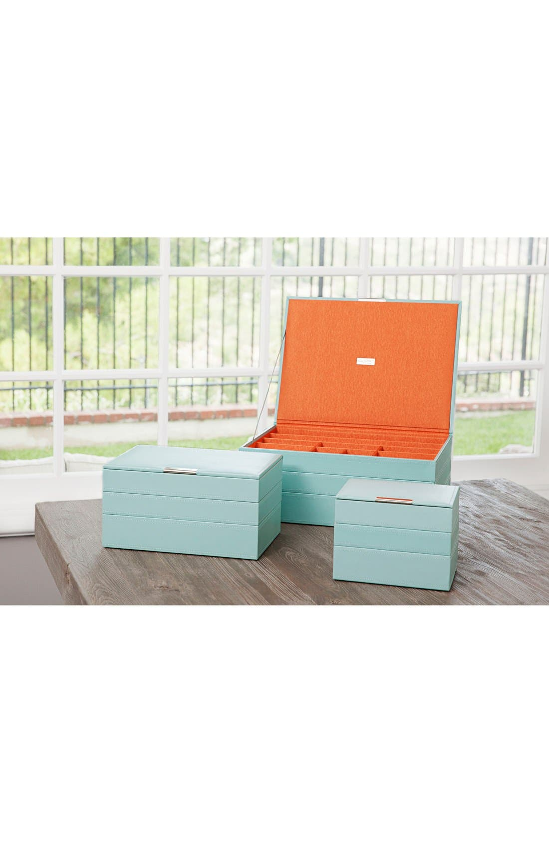'Large Stackable' Jewelry Trays,                             Alternate thumbnail 3, color,                             Aqua
