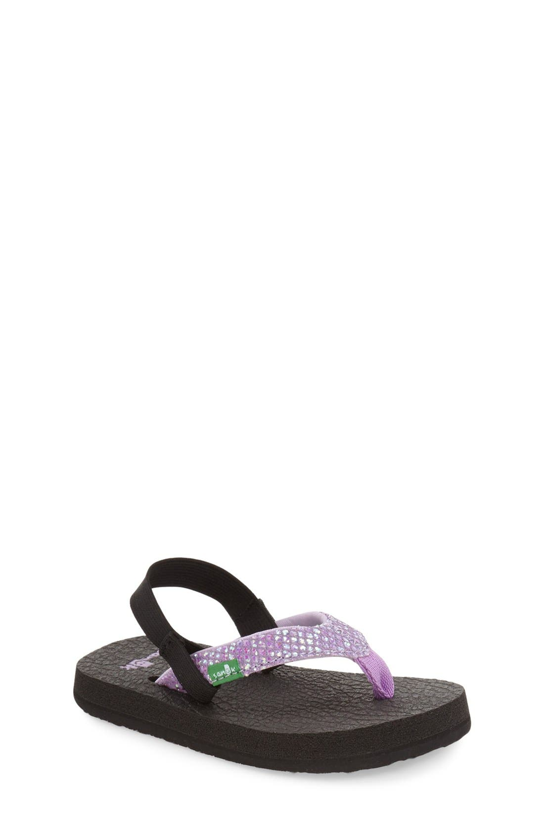 Sanuk 'Yoga' Glitter Sandal (Toddler, Little Kid & Big Kid)
