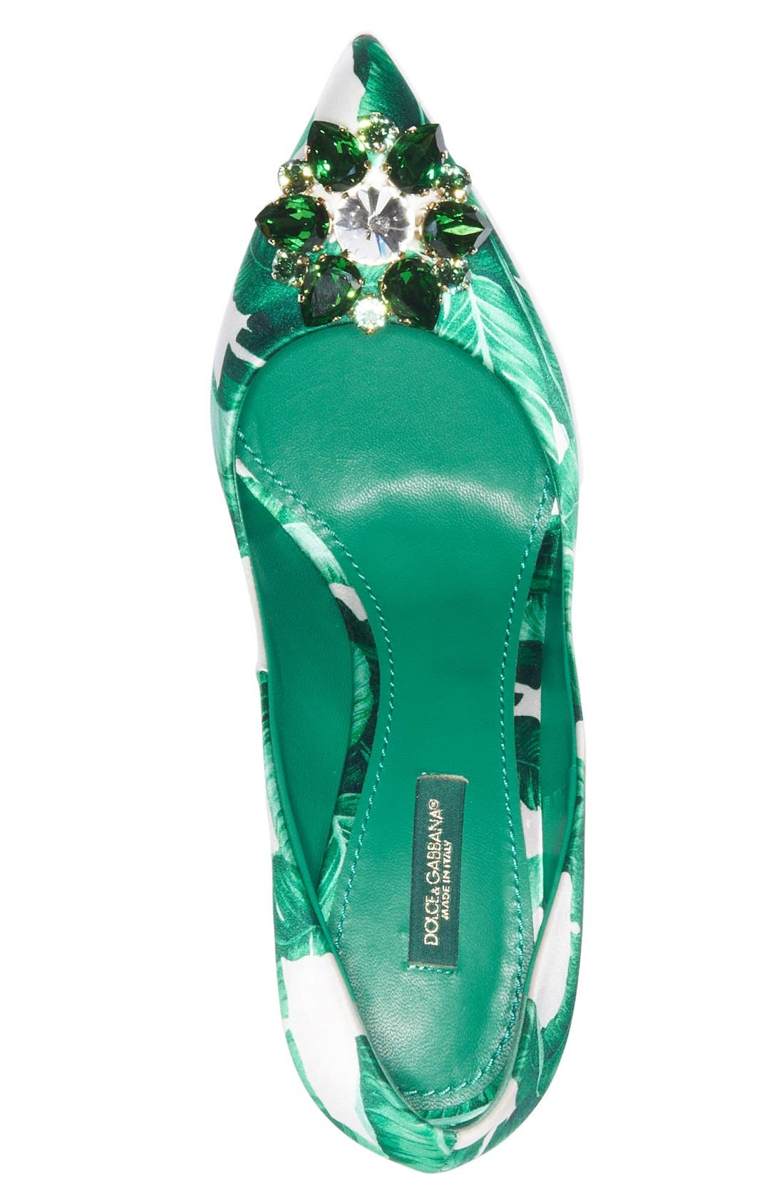 Alternate Image 3  - Dolce&Gabbana Banana Leaf Pointy Toe Pump (Women)