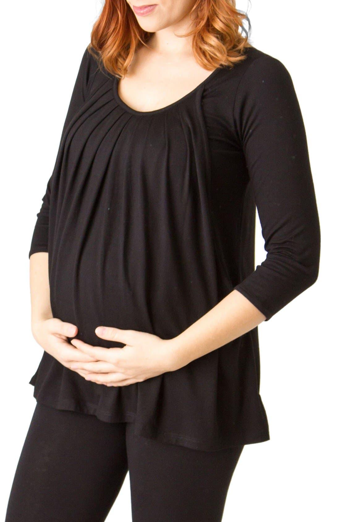 Savi Mom Pleated Maternity/Nursing Top