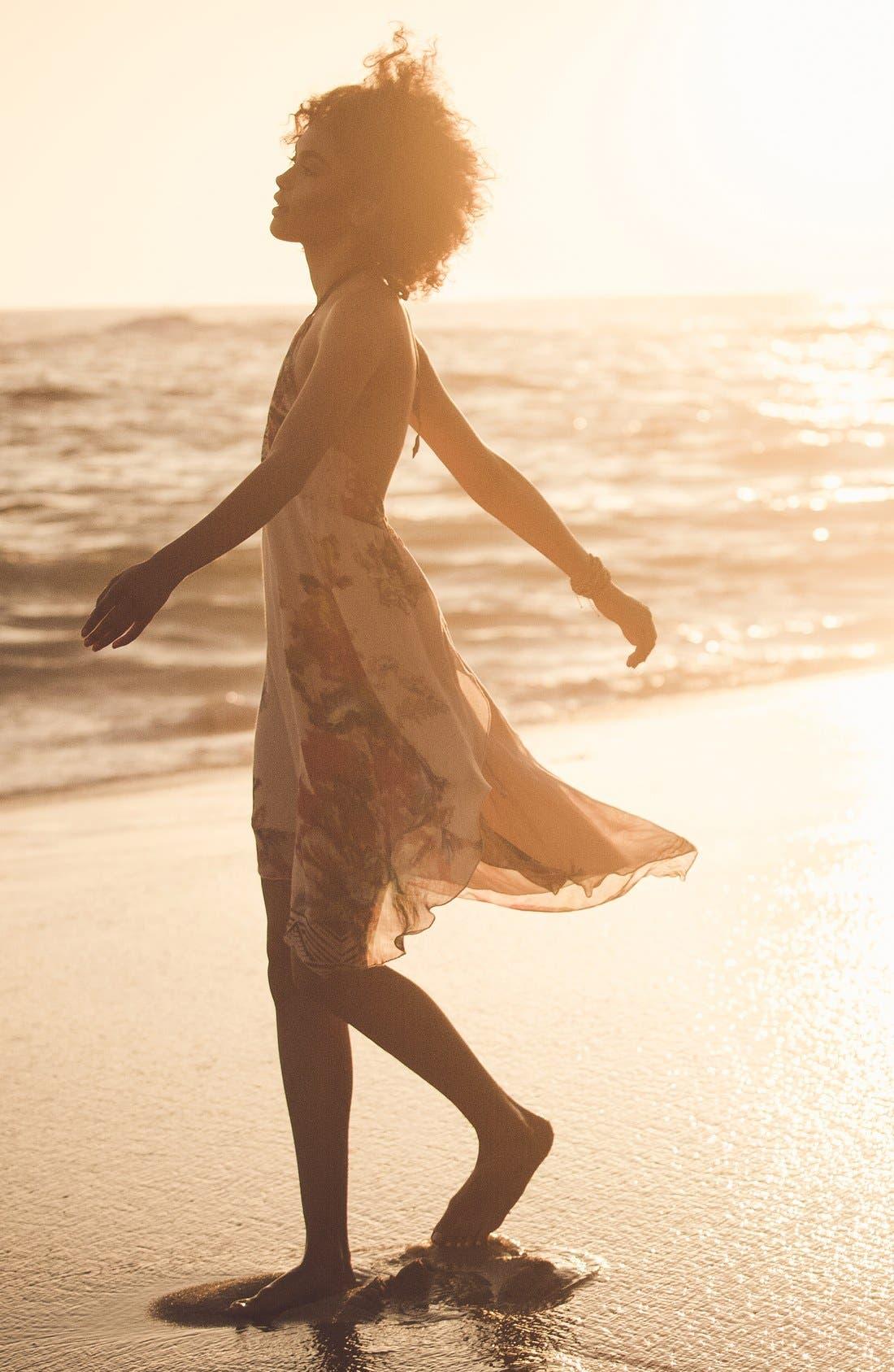 Alternate Image 7  - O'Neill 'Rosette' Mixed Print Halter Dress