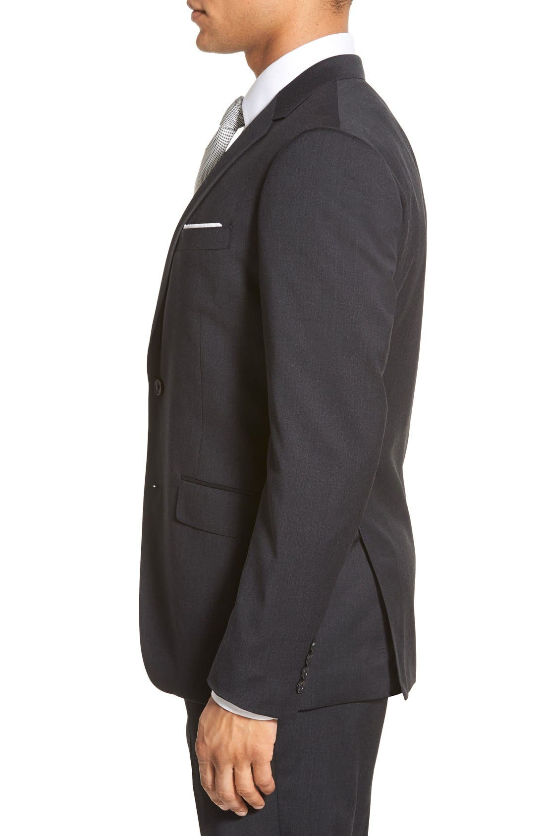 Alternate Image 3  - Bonobos Trim Fit Solid Stretch Wool Sport Coat