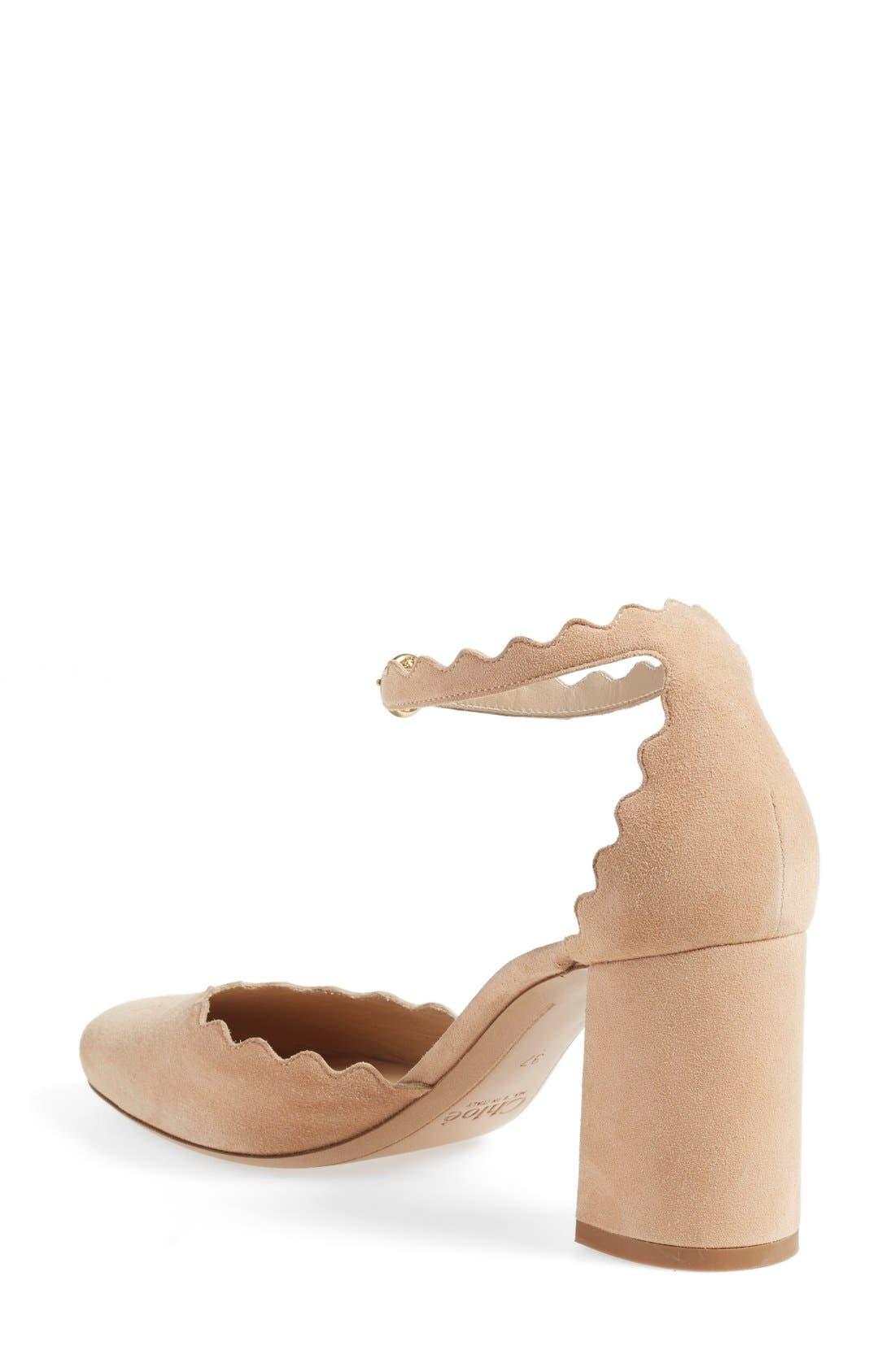Alternate Image 2  - Chloé Scalloped Ankle Strap d'Orsay Pump (Women)