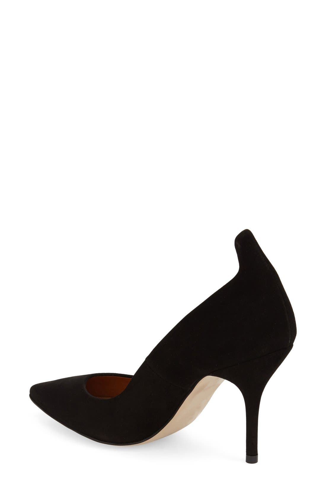'Giddy' Pointy Toe Pump,                             Alternate thumbnail 2, color,                             Black