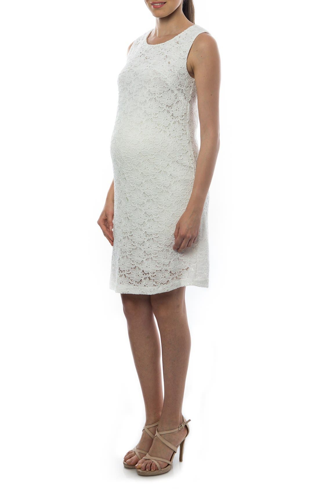 Alternate Image 4  - PIETRO BRUNELLI 'Danubio' Lace Maternity Shift Dress