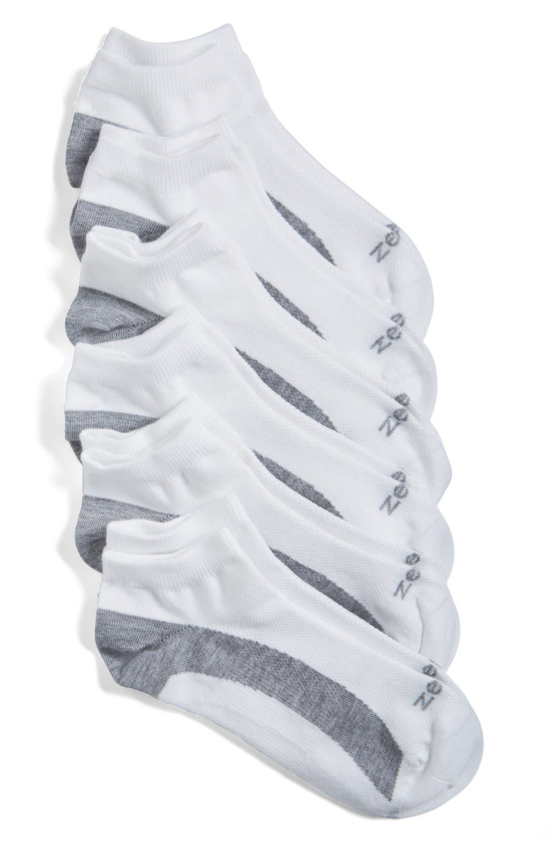 Alternate Image 1 Selected - Zella 6-Pack Liner Socks