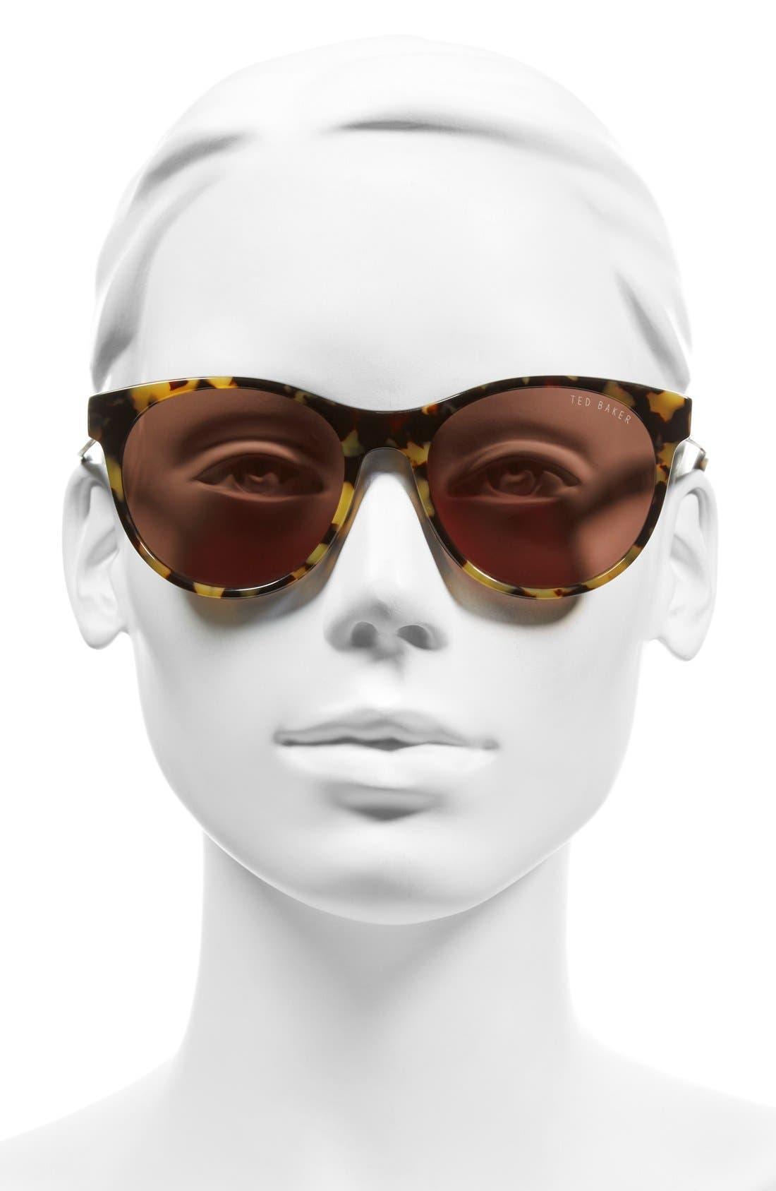54mm Retro Sunglasses,                             Alternate thumbnail 2, color,                             Tokyo Tortoise