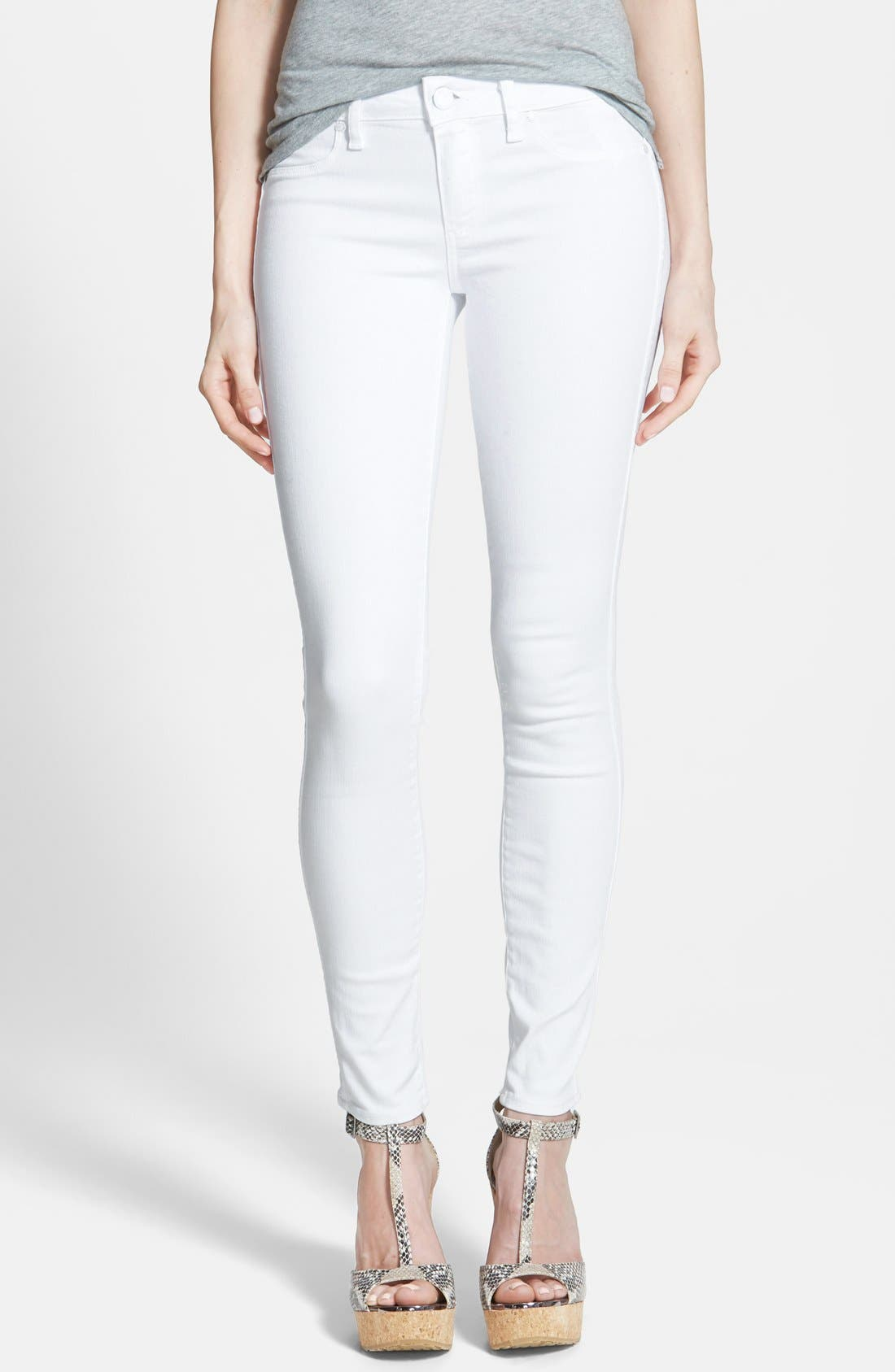 Alternate Image 1 Selected - PAIGE 'Verdugo' Ultra Skinny Jeans (Ultra White)