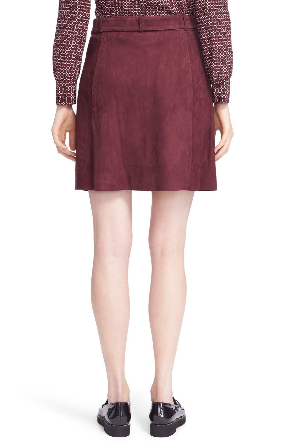 Alternate Image 2  - kate spade new york belted suede a-line skirt