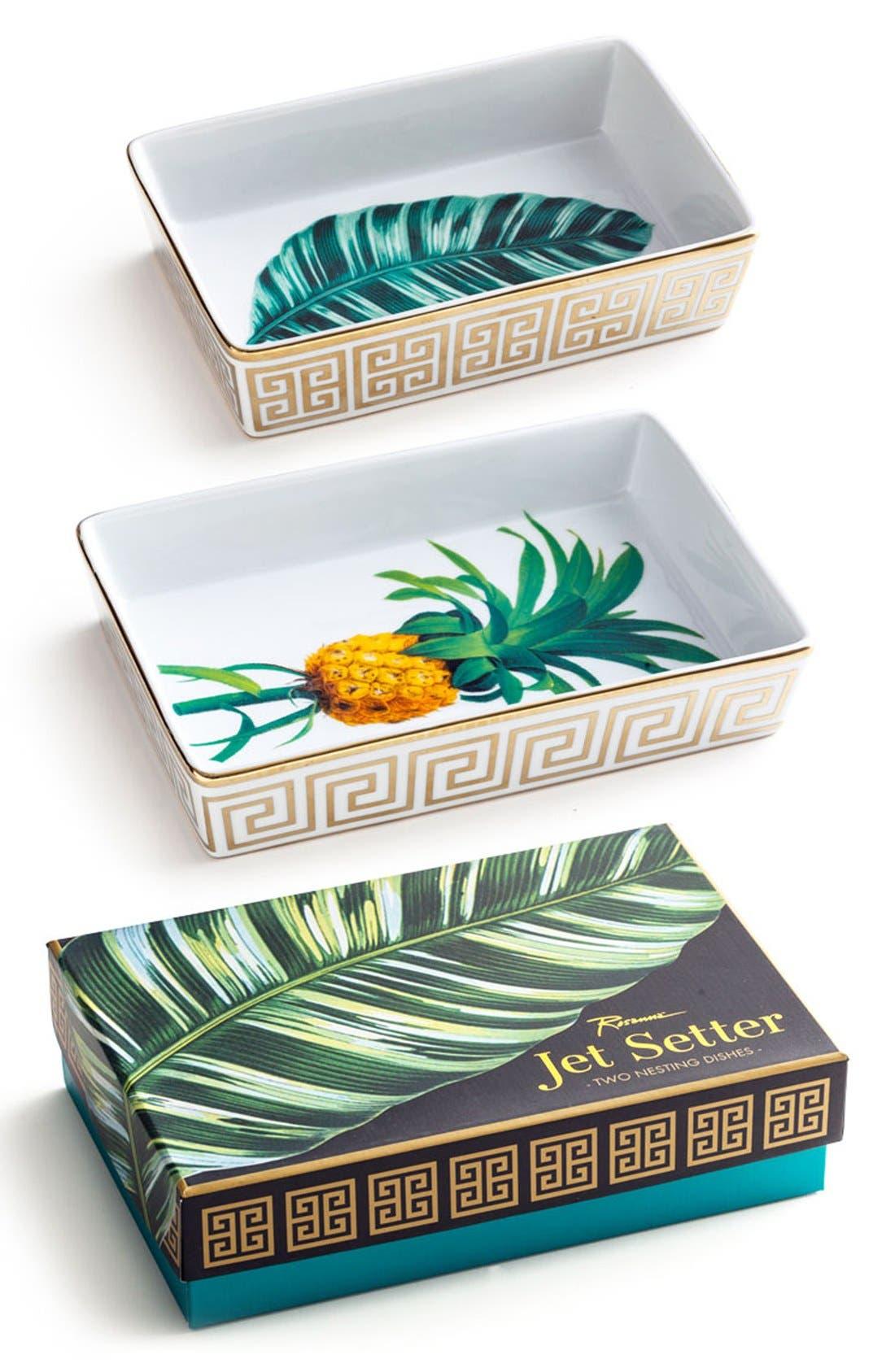 Alternate Image 1 Selected - Rosanna Botanical Nesting Trays (Set of 2)