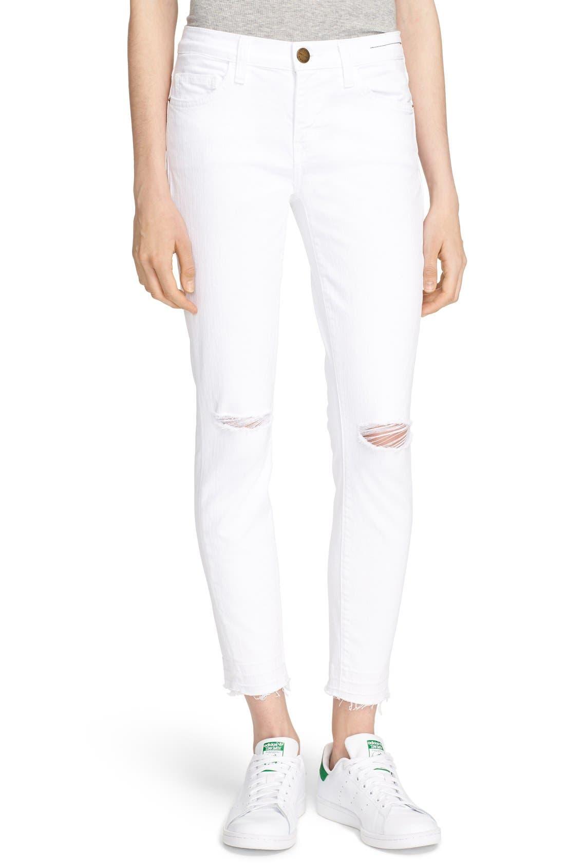 'The Stiletto' Jeans,                         Main,                         color, Sugar Knee Slit