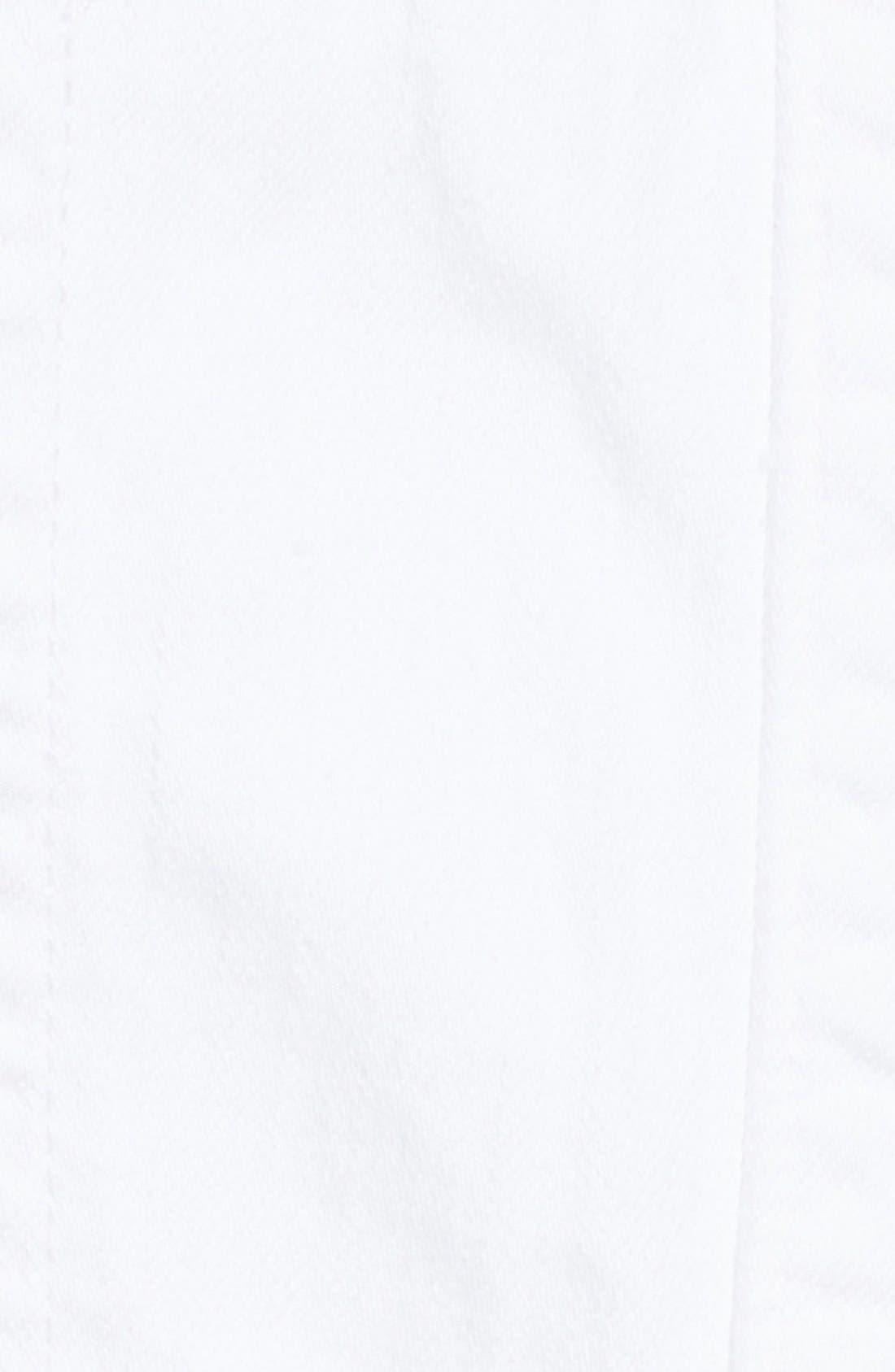 Alternate Image 6  - True Religion Brand Jeans Denim Short Overalls (Optic White)