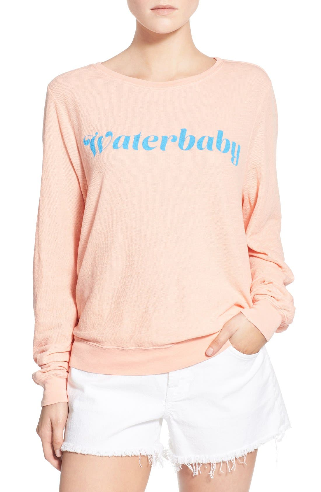 Main Image - Wildfox 'Baggy Beach Jumper - Waterbaby' Pullover