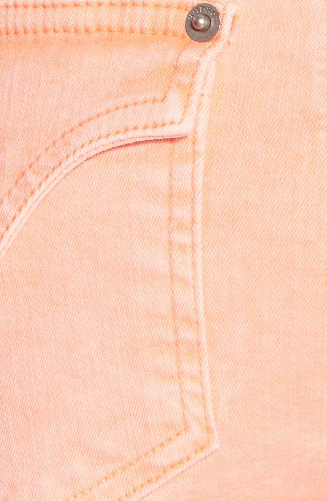 Alternate Image 5  - Hudson Jeans 'Hampton' Cuffed Denim Shorts (Luminous Orange)