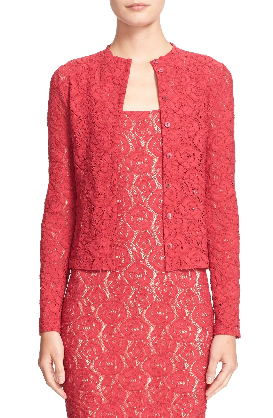 Alternate Image 1 Selected - Fuzzi Floral Lace Cardigan