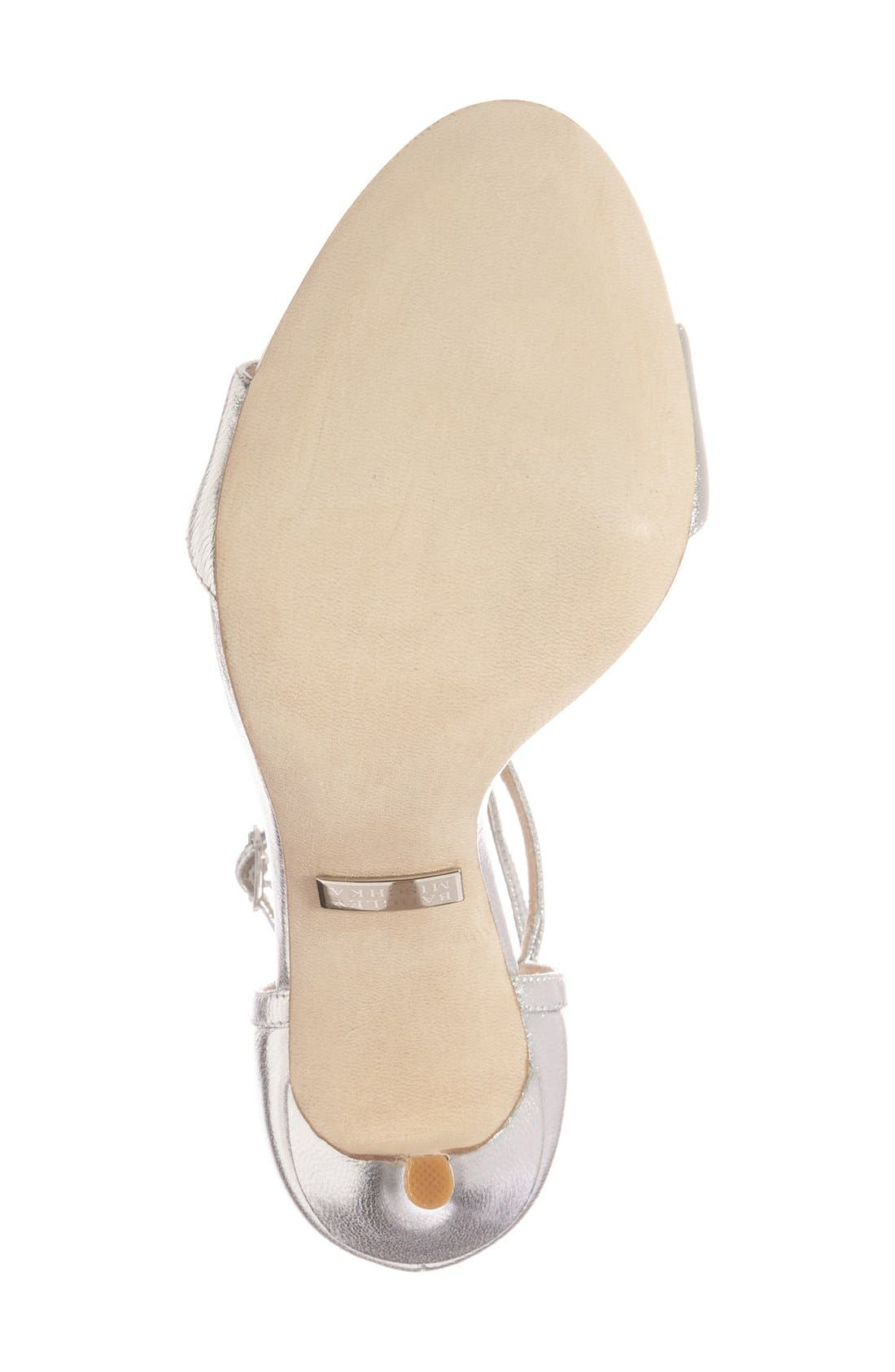 Alternate Image 4  - Badgley Mischka 'Leigh' Embellished Evening Sandal (Women)