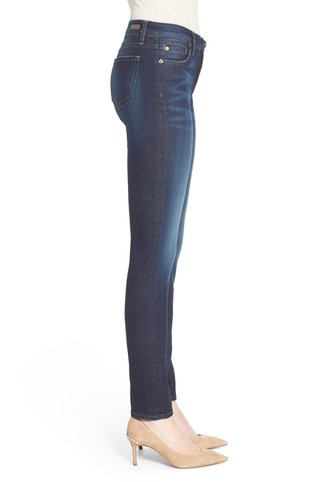 'Diana' Stretch Skinny Jeans,                             Alternate thumbnail 4, color,                             Blinding