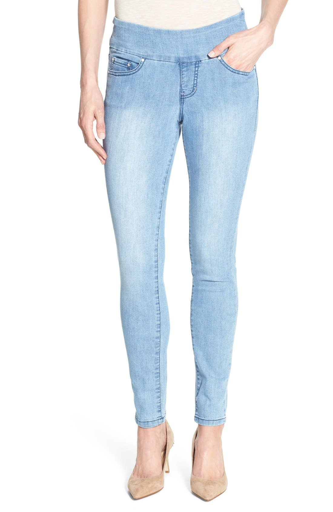 Alternate Image 4  - Jag Jeans 'Nora' Pull-On Stretch Skinny Jeans (Southern Sky)