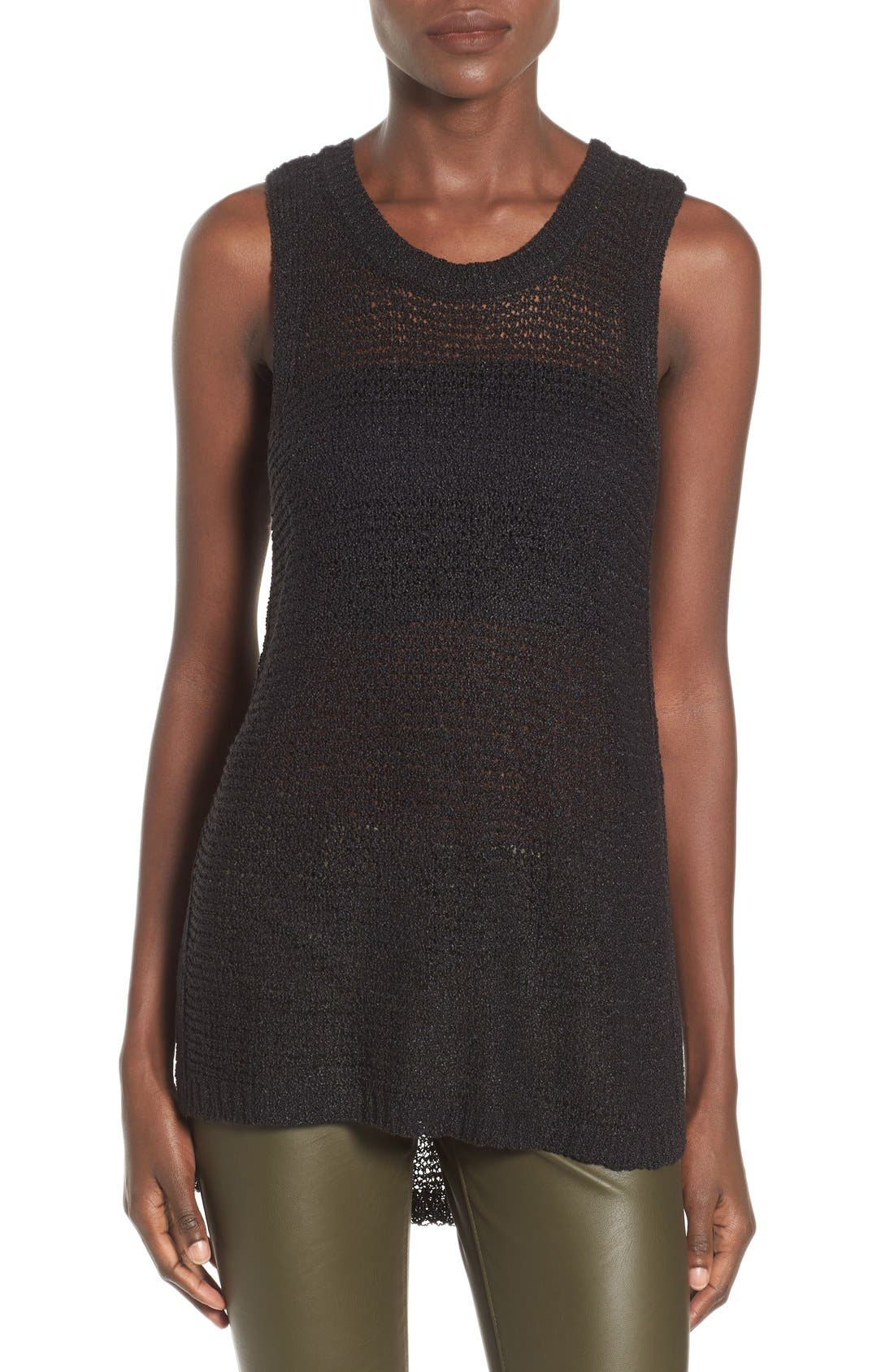 Alternate Image 1 Selected - ASTR Side Slit Sweater Tank