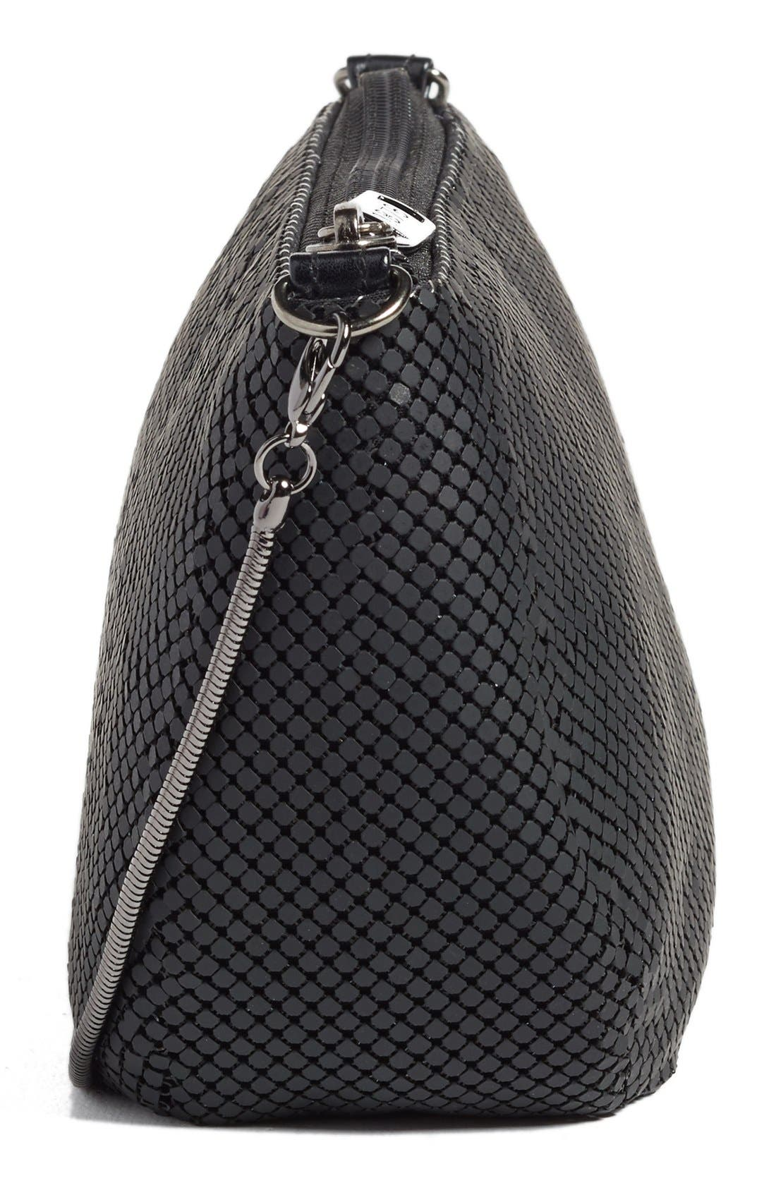 'Matte' Mesh Crossbody Bag,                             Alternate thumbnail 5, color,                             Matte Black
