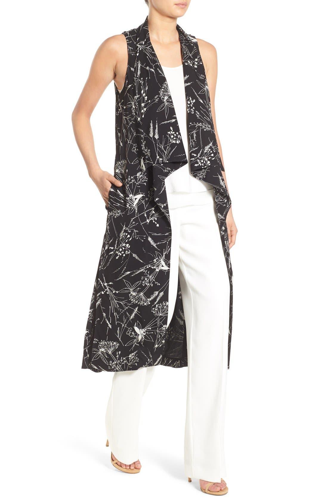 Alternate Image 4  - Olivia Palermo + Chelsea28 Floral Print Long Vest