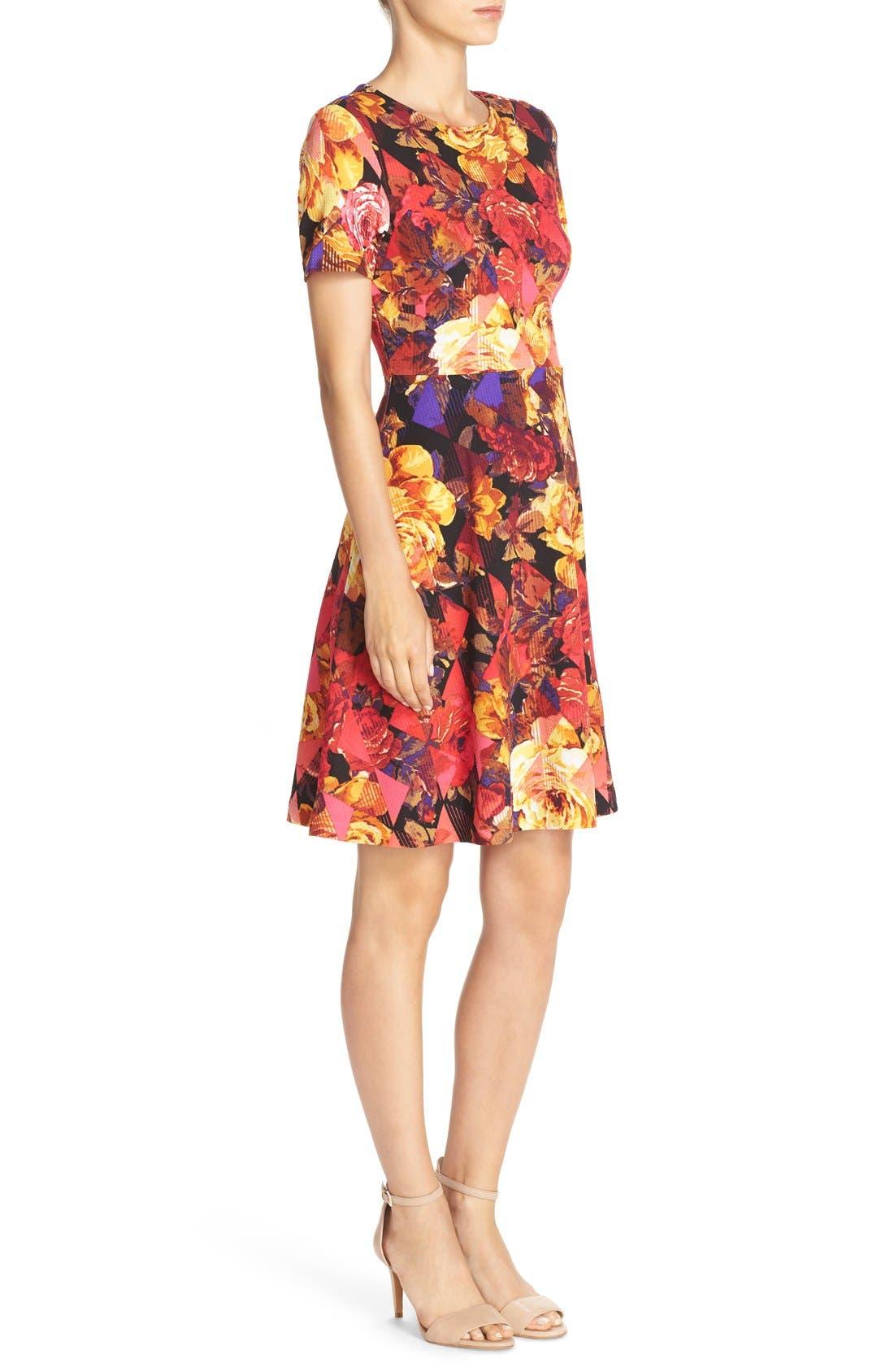 Alternate Image 3  - ECI Floral Print Fit & Flare Dress