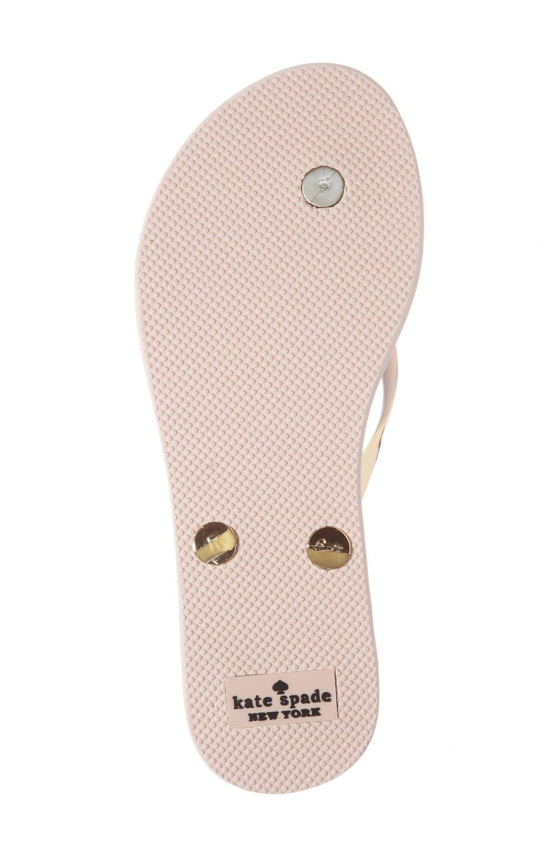 'nadine' flip flop,                             Alternate thumbnail 4, color,                             Gold Coated Rubber
