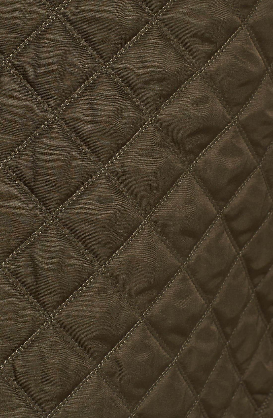 'Leightonbury' Quilted Hooded Jacket,                             Alternate thumbnail 3, color,                             Dark Olive