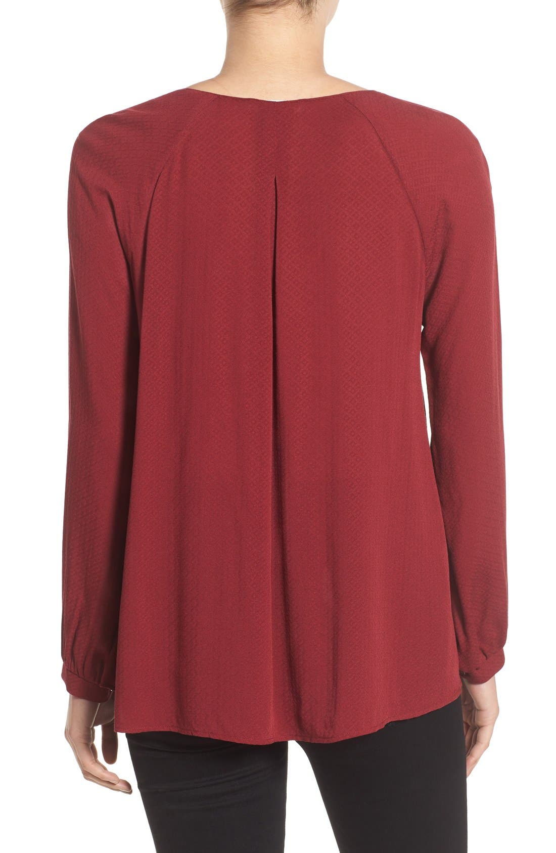 Alternate Image 2  - Strappy Long Sleeve Woven Blouse