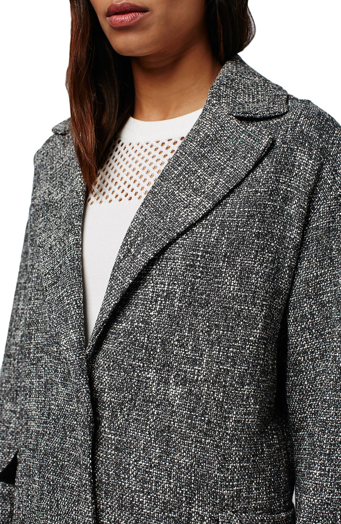 Alternate Image 4  - Topshop Textured Slouchy Coat