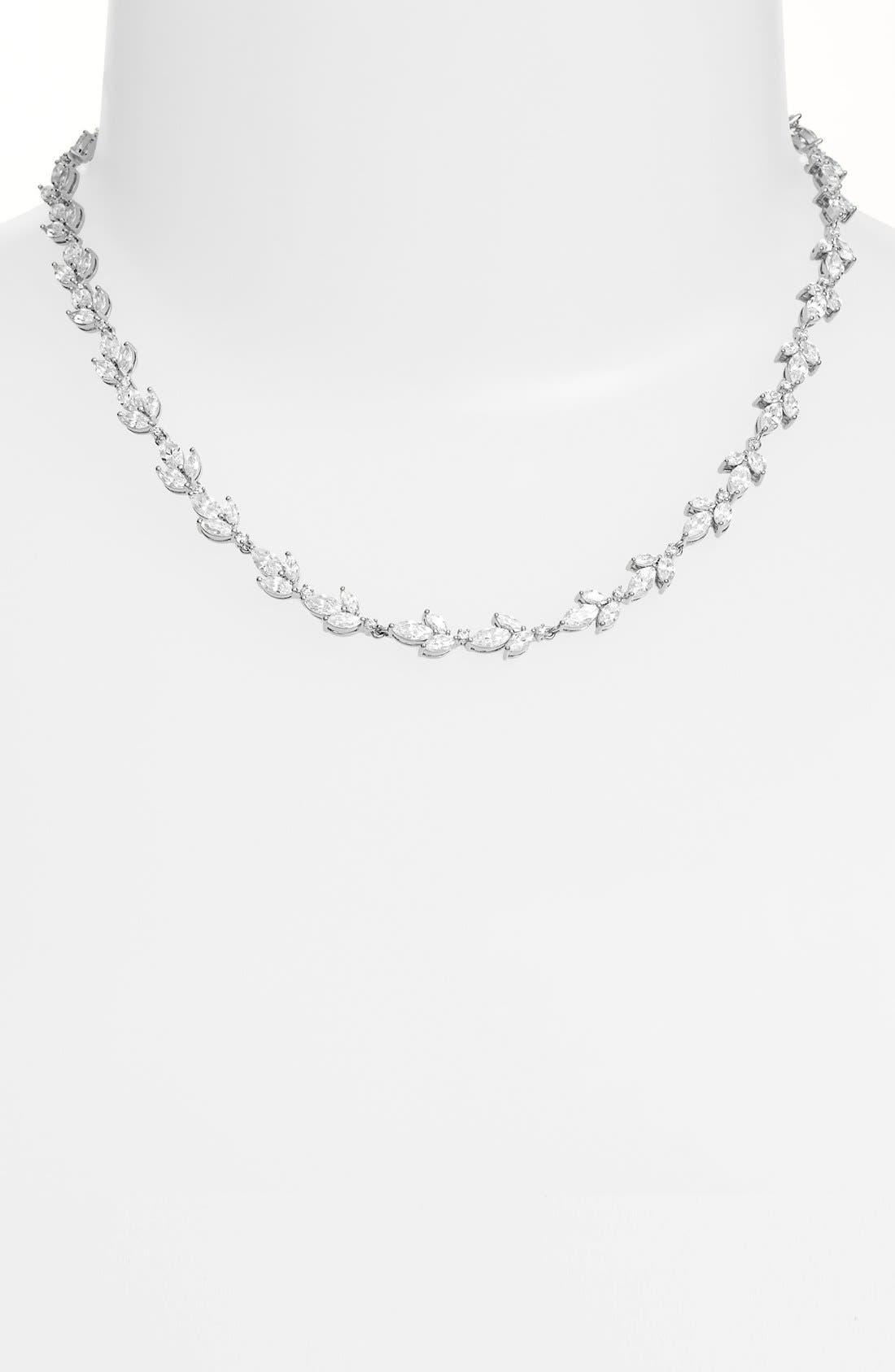 Alternate Image 1 Selected - Nadri 'Bloom' Cubic Zirconia Collar Necklace