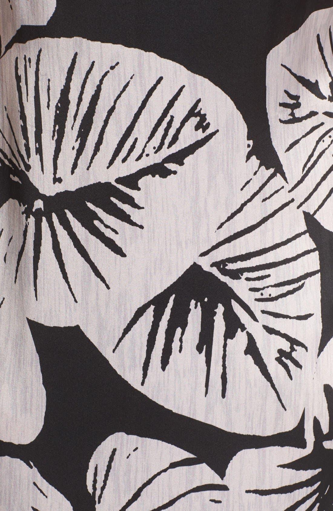 Alternate Image 5  - KENDALL + KYLIE Print Cutout Silk Maxi Dress