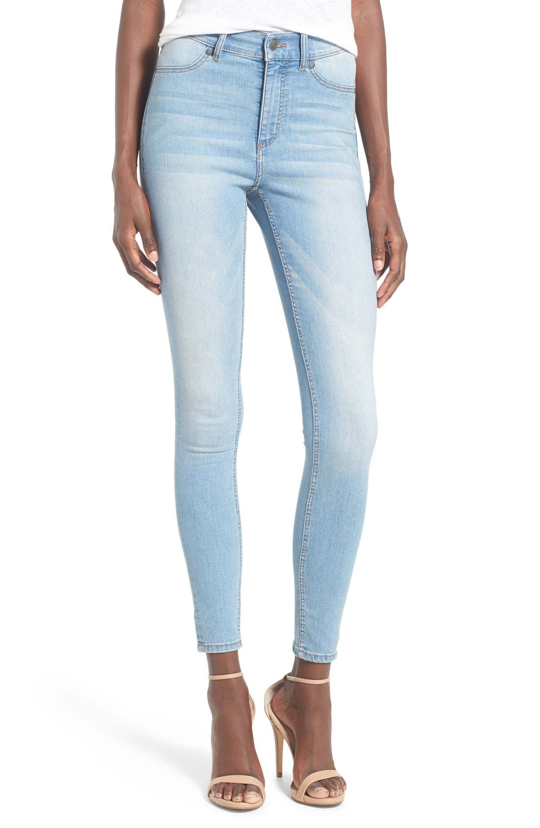 Alternate Image 1 Selected - Cheap Monday 'High Spray' High Rise Skinny Jeans (Stone Bleach)
