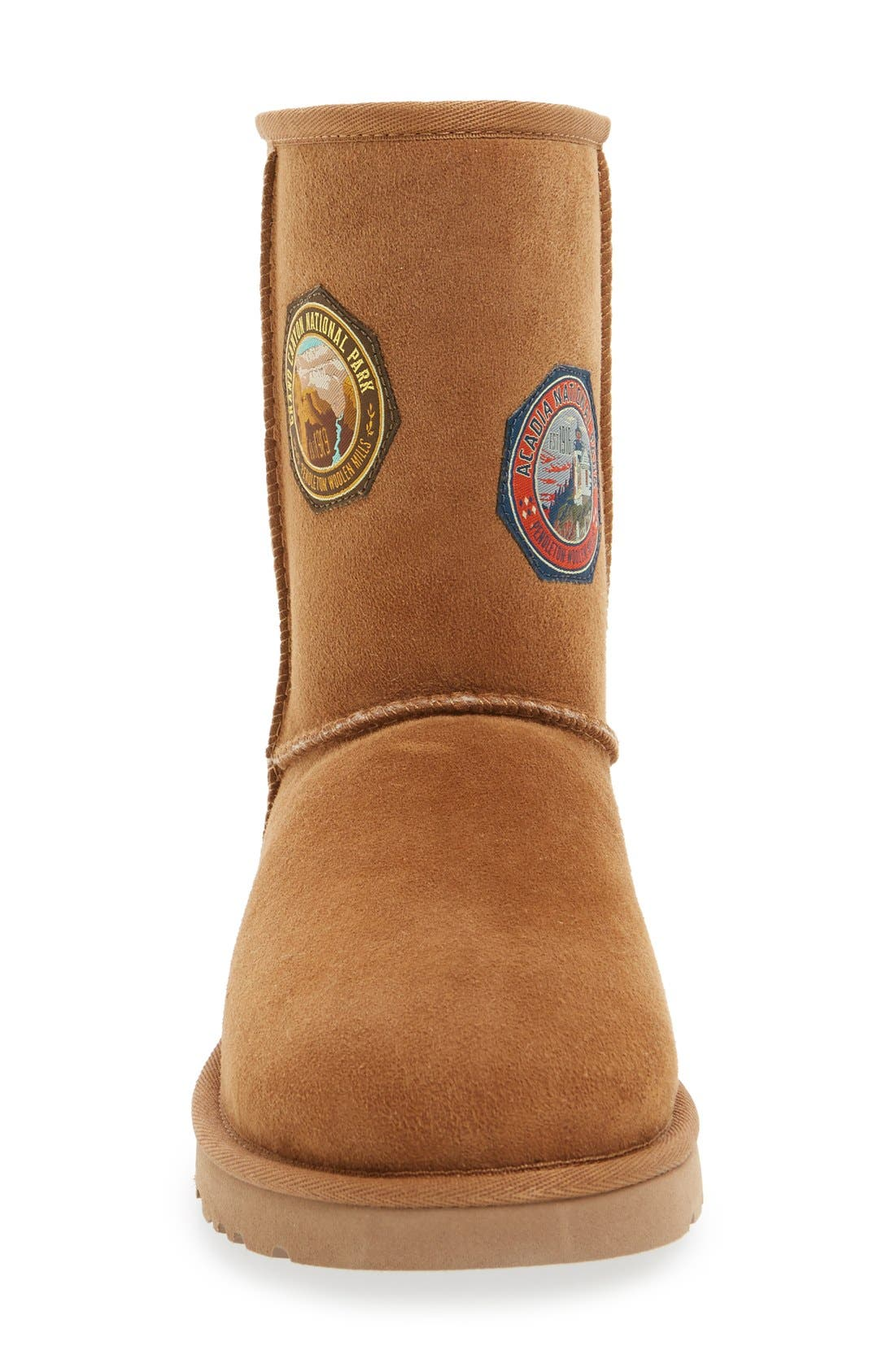 Alternate Image 3  - UGG® x Pendleton 'Classic Short - Patch' Boot (Women)