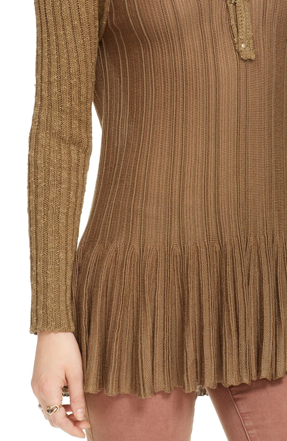 Alternate Image 4  - Free People 'Ribs & Ruffles' Knit Peplum Sweater