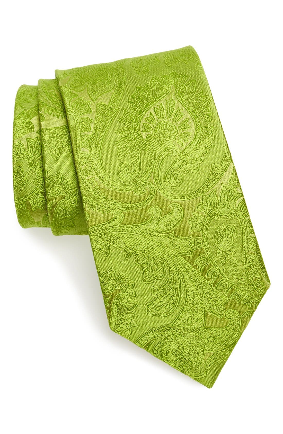 Alternate Image 1 Selected - Nordstrom Men's Shop Paisley Silk Tie (X-Long)