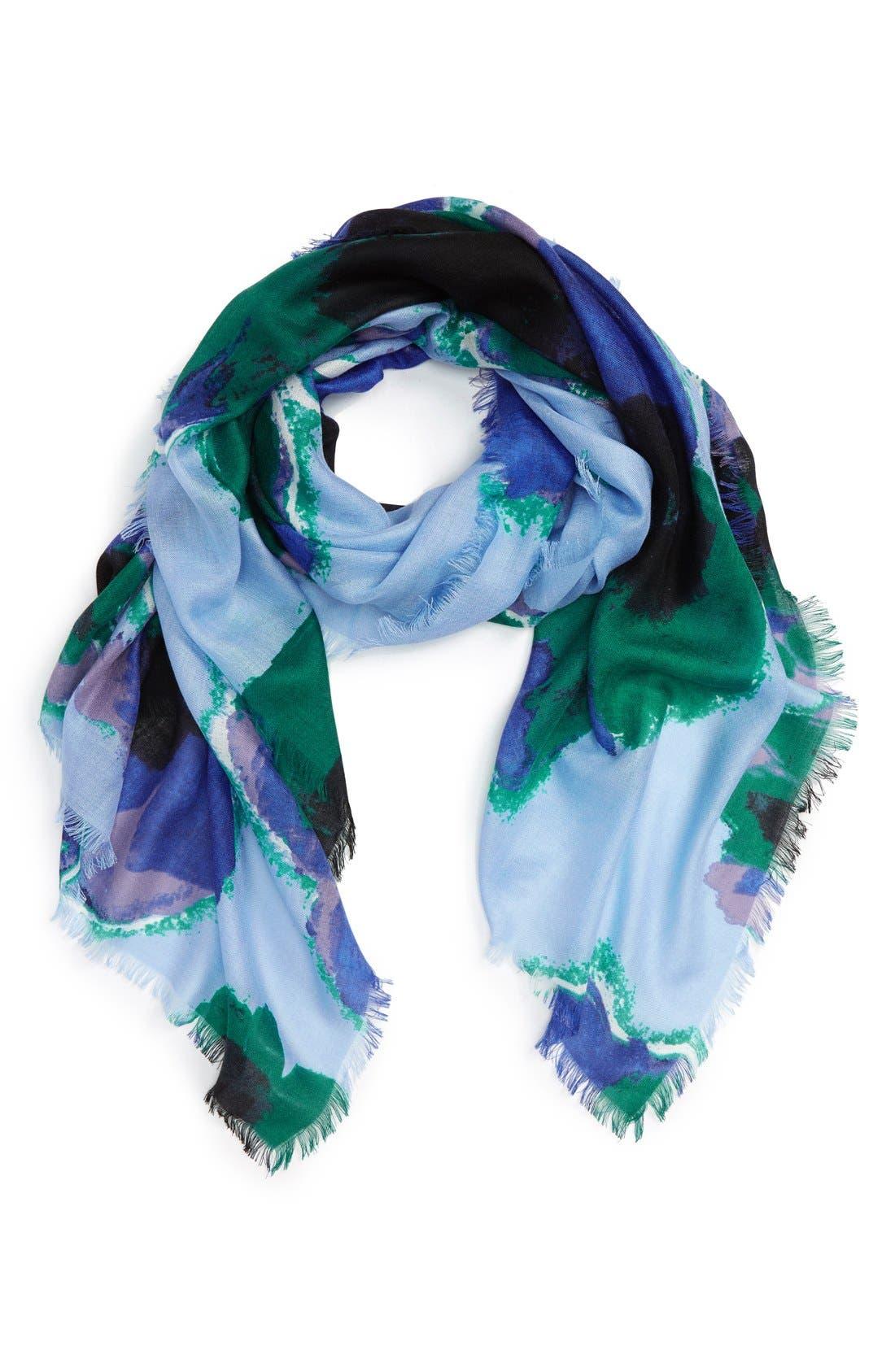 Alternate Image 1 Selected - Nordstrom Floral Cashmere & Silk Scarf