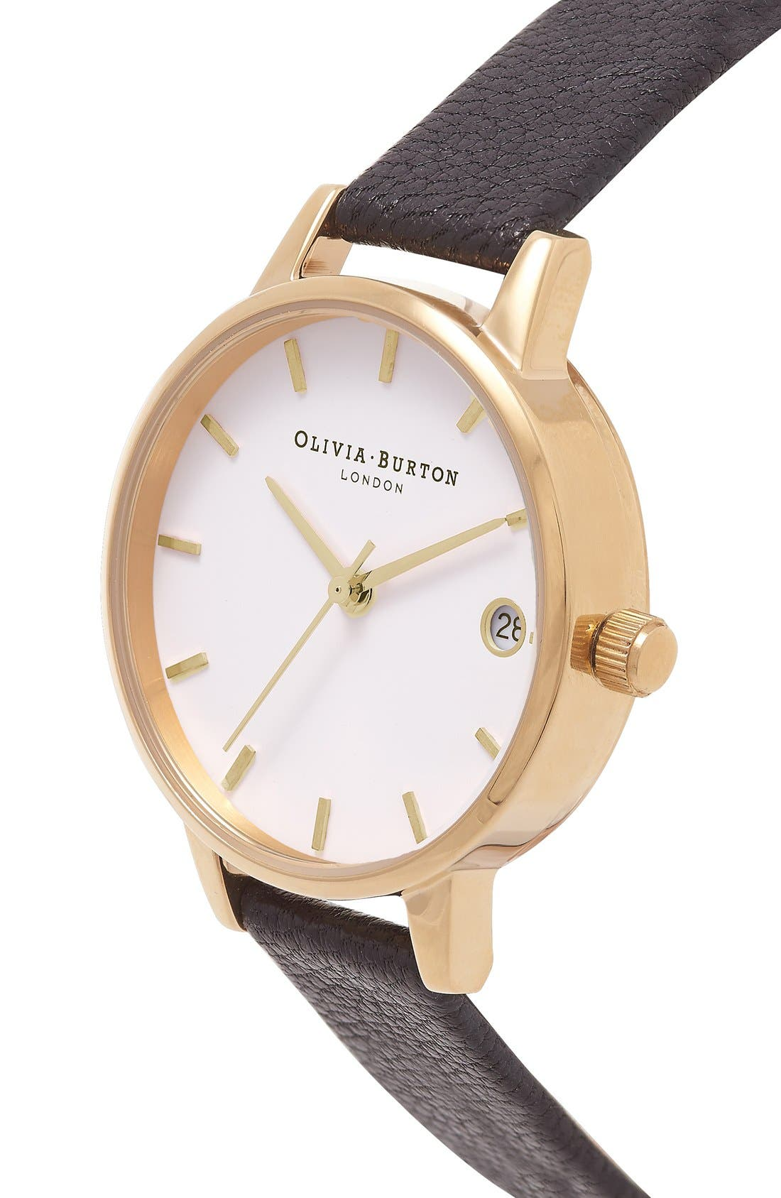 Alternate Image 2  - Olivia Burton 'The Dandy' Leather Strap Watch, 30mm